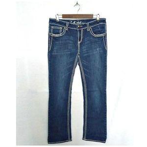 LA Idol Thick Stitch Bootcut Jeans